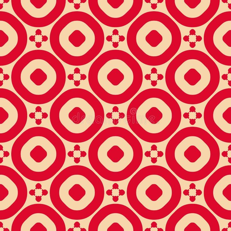 Modelo inconsútil geométrico ornamental del extracto del vector en rojo y broncear color libre illustration