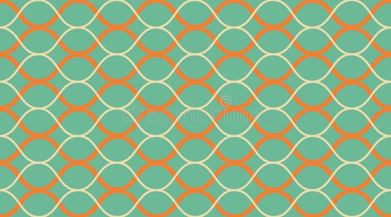 Modelo inconsútil geométrico Ornamento hermoso delicado Impresión geométrica de la tela de la moda Modelo inconsútil del vector ilustración del vector