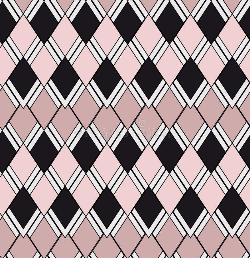 Modelo inconsútil geométrico rosa claro de dos tonos libre illustration