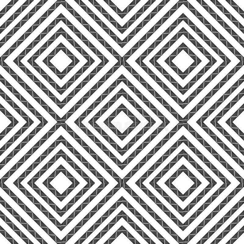 Modelo inconsútil geométrico simple en blanco y negro, vector ilustración del vector