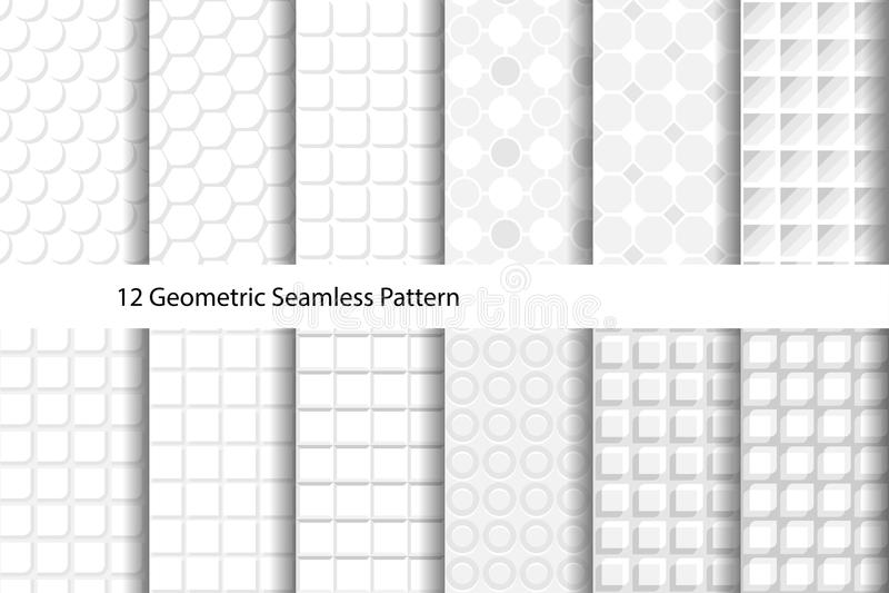 Modelo inconsútil geométrico texturizado blanco foto de archivo