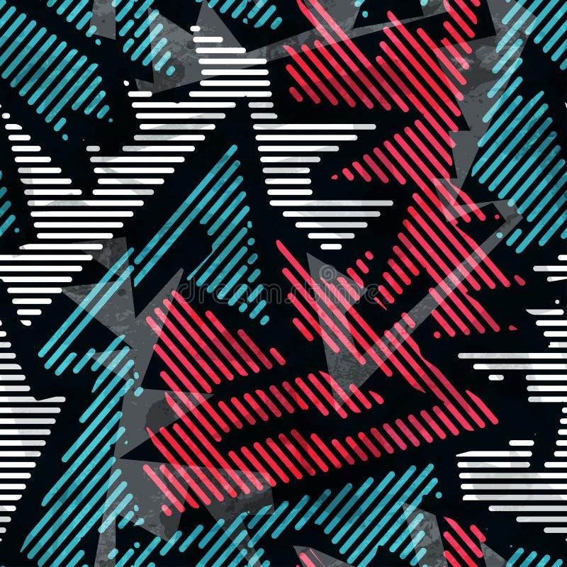 Modelo inconsútil geométrico urbano libre illustration