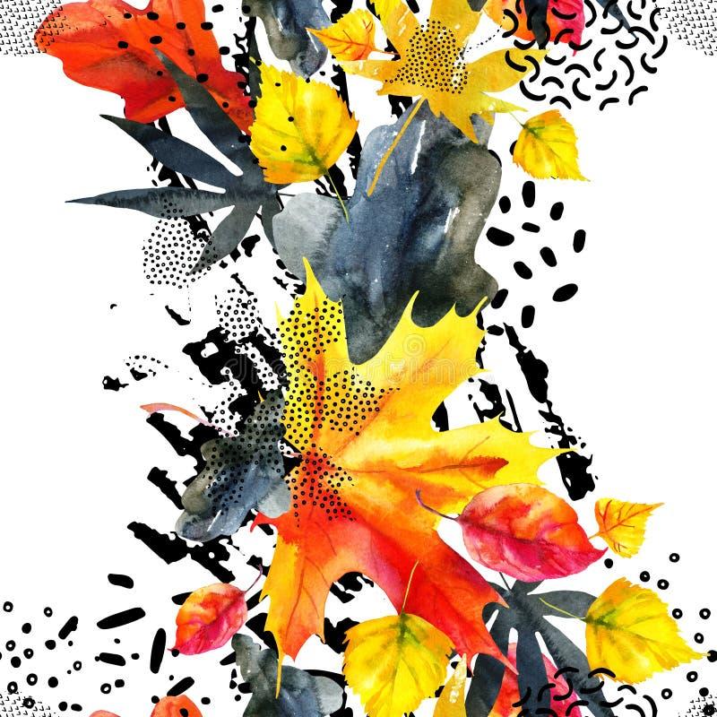 Modelo inconsútil gráfico abstracto en colores brillantes del otoño ilustración del vector