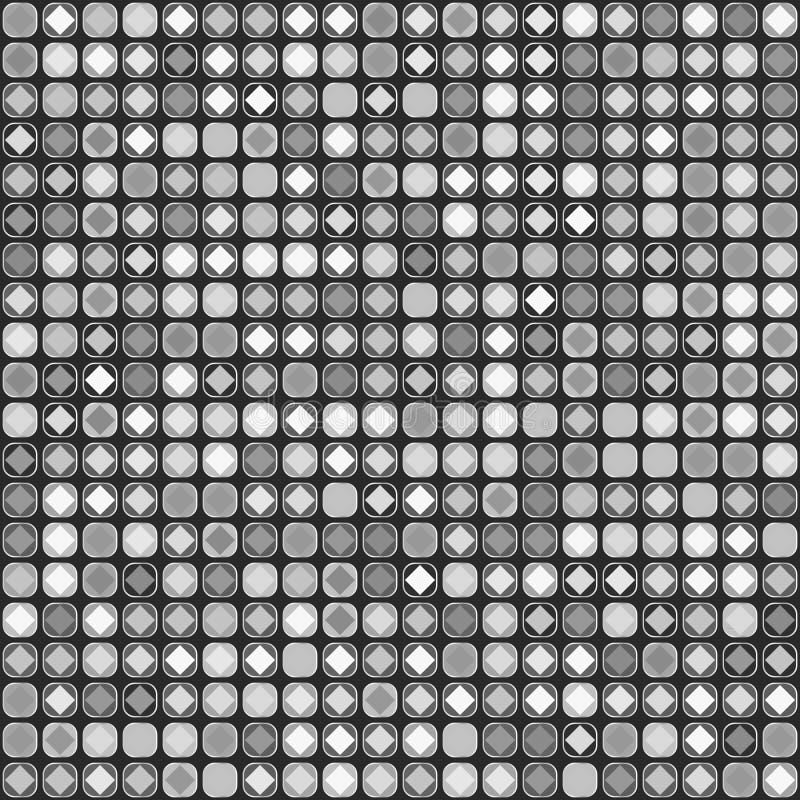 Modelo inconsútil gris Mosaico abstracto de los cuadrados libre illustration