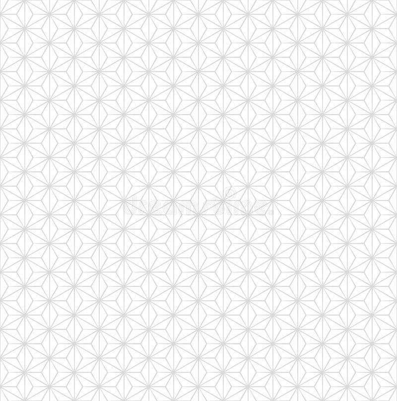 Modelo inconsútil gris sutil japonés del vector stock de ilustración