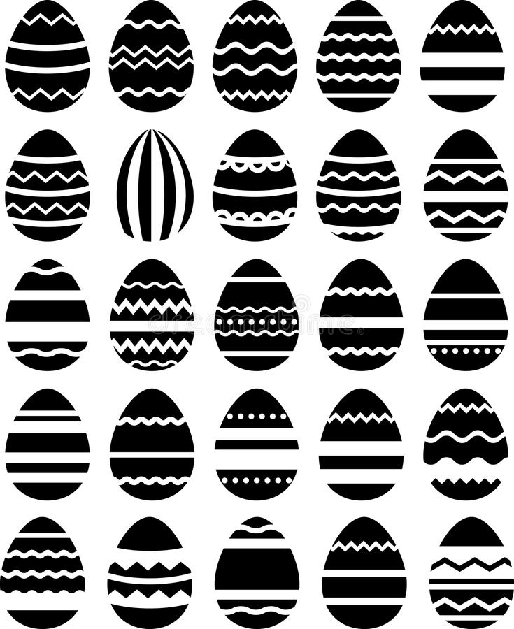 Modelo inconsútil hecho de huevos estilizados stock de ilustración