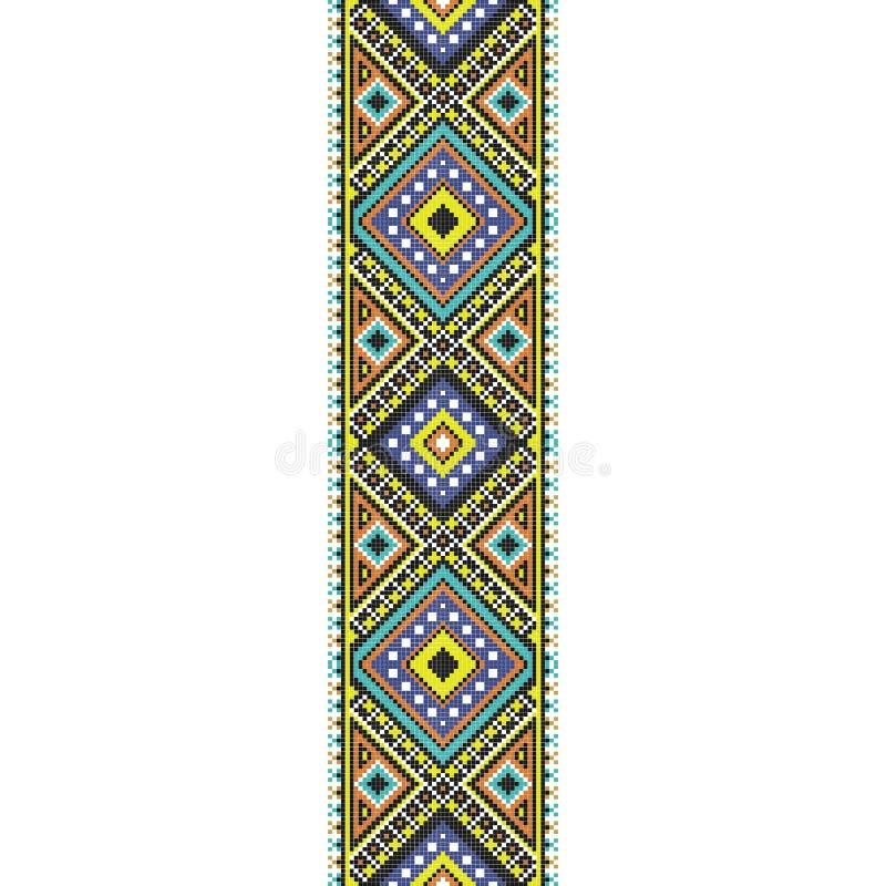 Modelo inconsútil hecho punto tradicional del bordado del arte popular ilustración del vector