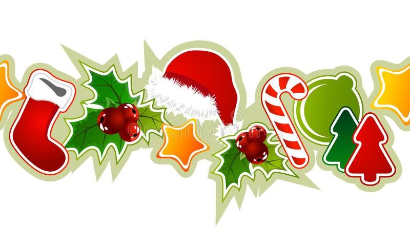 Modelo inconsútil hermoso de la Navidad stock de ilustración