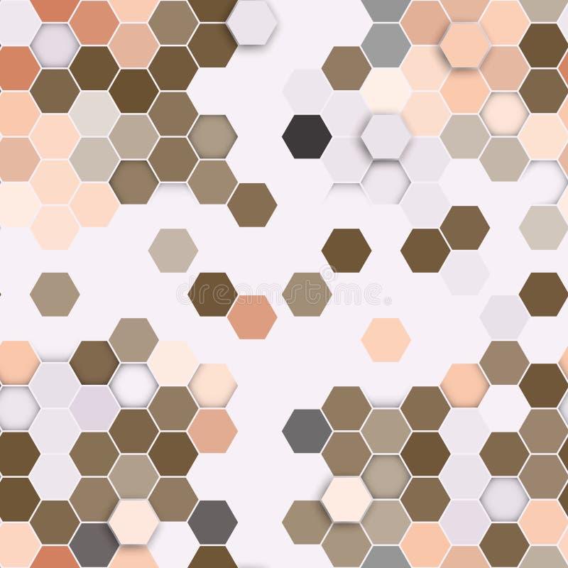 Modelo inconsútil hexagonal Repetición geométrica stock de ilustración