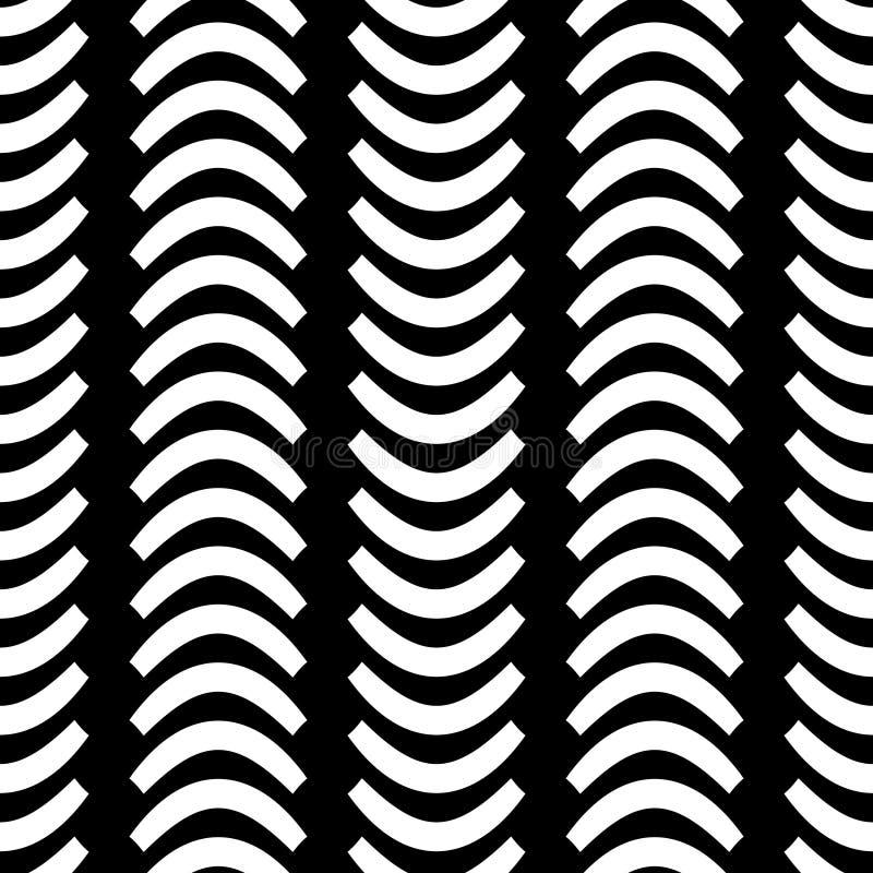 Modelo inconsútil horizontal de la cuarta onda monocromática de Wavsha libre illustration