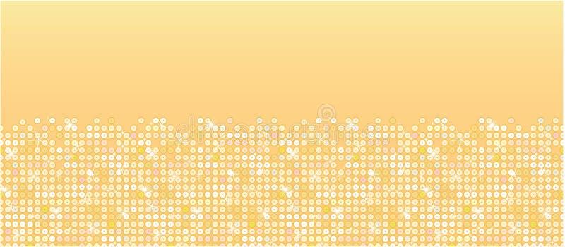Modelo inconsútil horizontal de las chispas de oro stock de ilustración