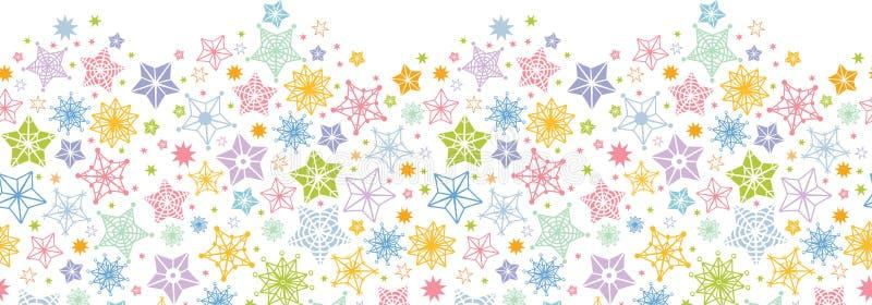 Modelo inconsútil horizontal de las estrellas coloridas libre illustration