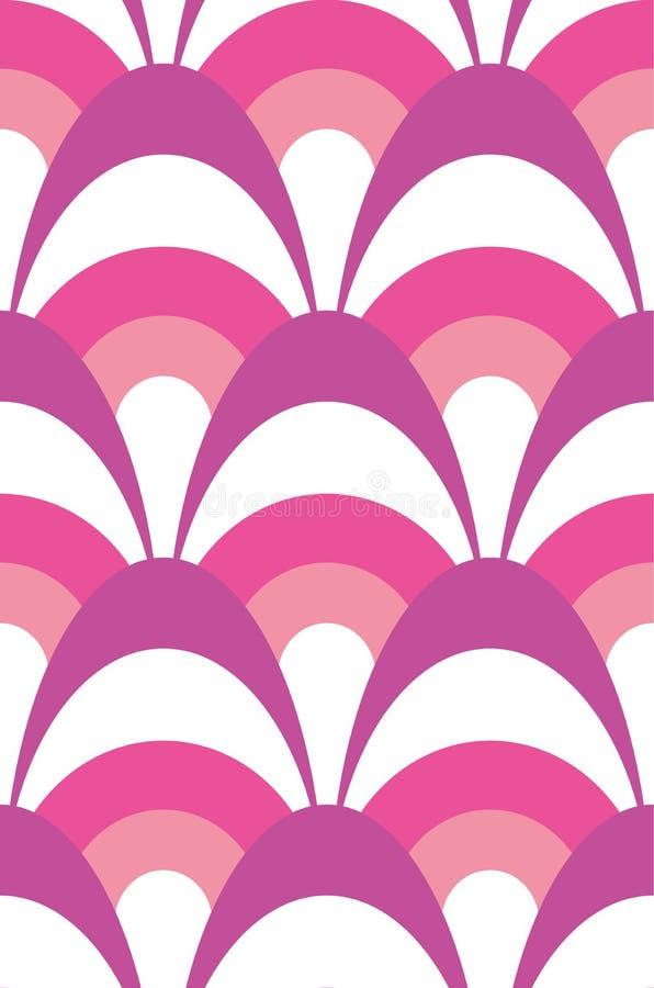 Modelo inconsútil horneado a la crema y con pan rallado moderno acodado del rosa, púrpura y blanco del vector stock de ilustración
