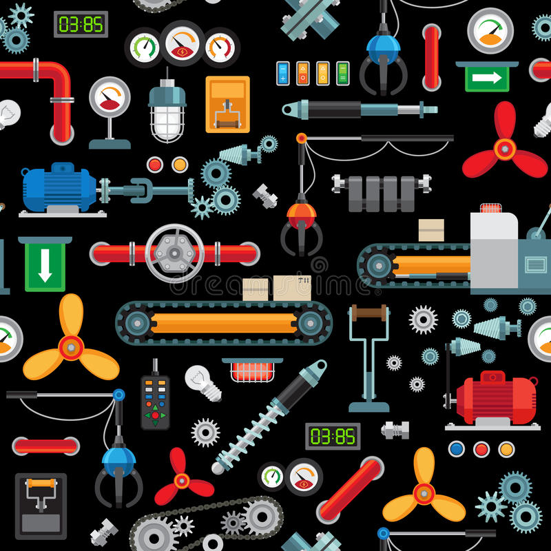 Modelo inconsútil industrial de la maquinaria libre illustration
