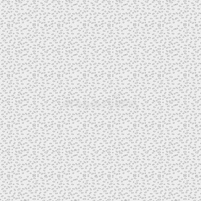 Modelo inconsútil irregular puesto del vector de los puntos La mano dibujada motea, textura de moda de los puntos caóticos Fondo  stock de ilustración