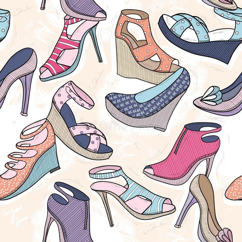 Modelo inconsútil lindo de la moda para las muchachas o la mujer libre illustration