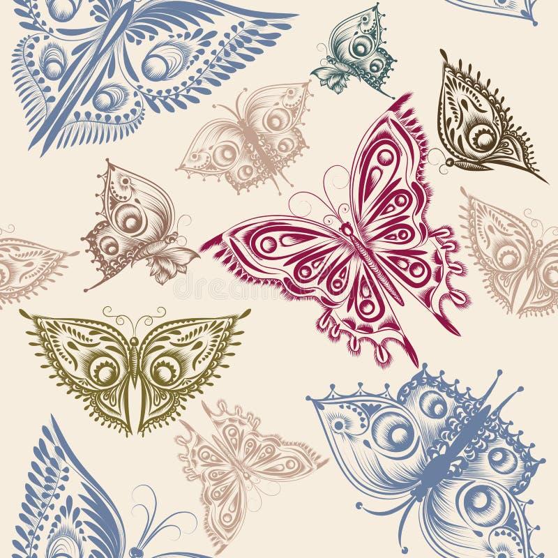 Modelo incons til lindo del papel pintado con las for Papel pintado mariposas