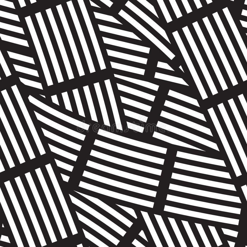 Modelo inconsútil linear abstracto ilustración del vector