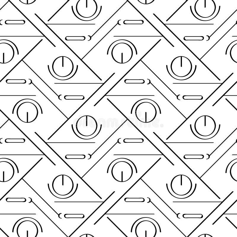 Modelo inconsútil linear simple del art déco ilustración del vector