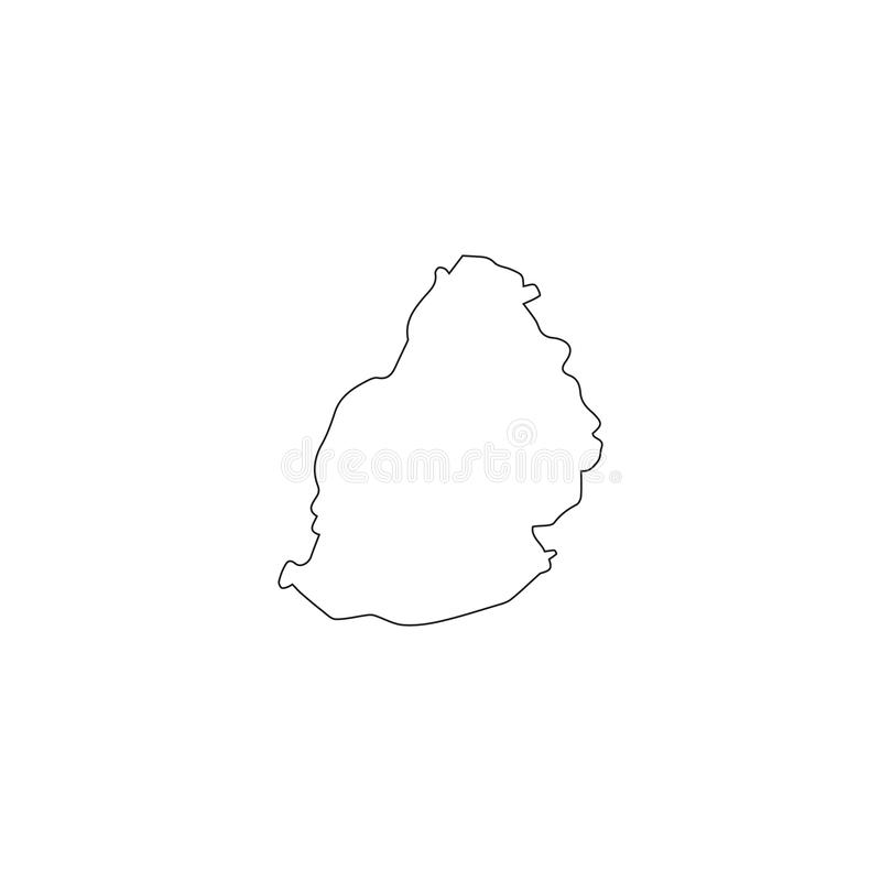 Modelo inconsútil llenado de los mapas del mauritus Siluetas blancas en fondo verde ilustración del vector