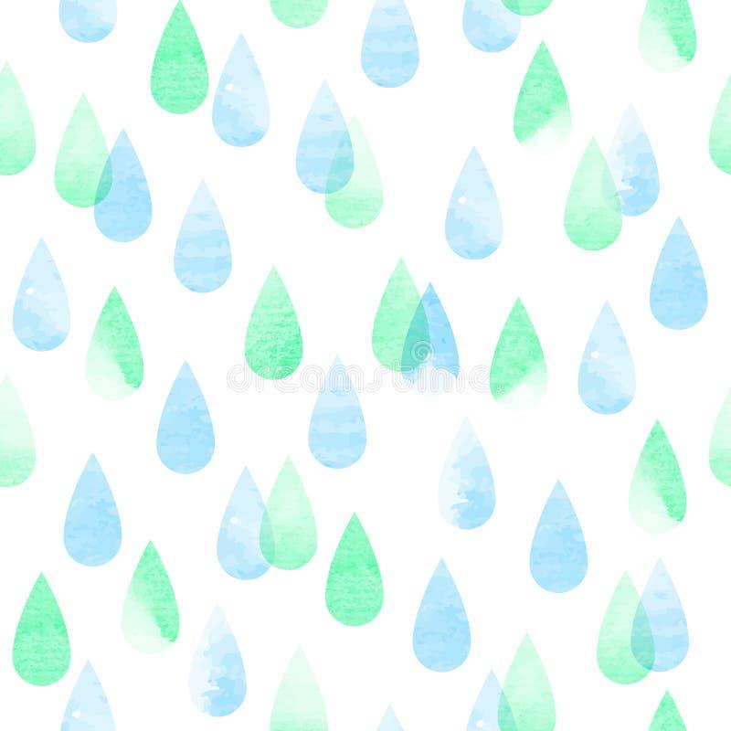 Modelo inconsútil lluvioso stock de ilustración