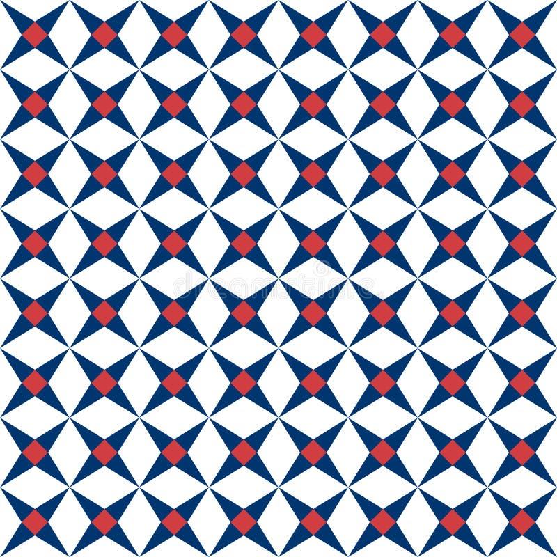 Modelo inconsútil mediterráneo Textura de la baldosa cerámica, ejemplo del vector del modelo de las tejas libre illustration