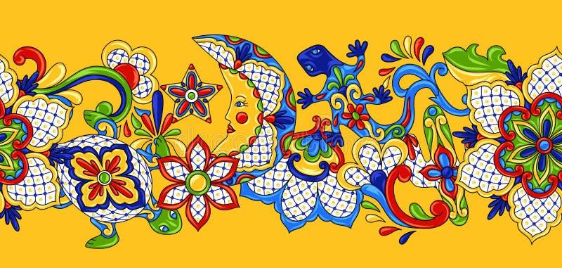 Modelo inconsútil mexicano ilustración del vector