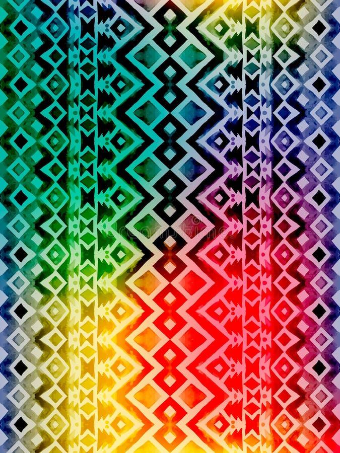 Modelo inconsútil mexicano tribal azteca ilustración del vector