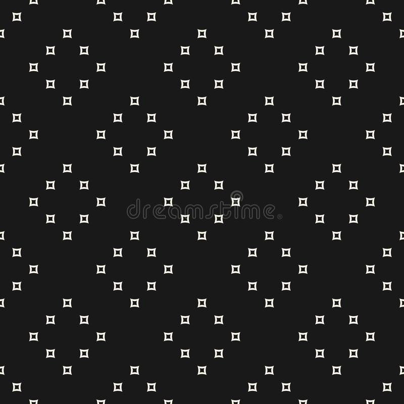 Modelo inconsútil minimalista del vector con el pequeño esquema stock de ilustración