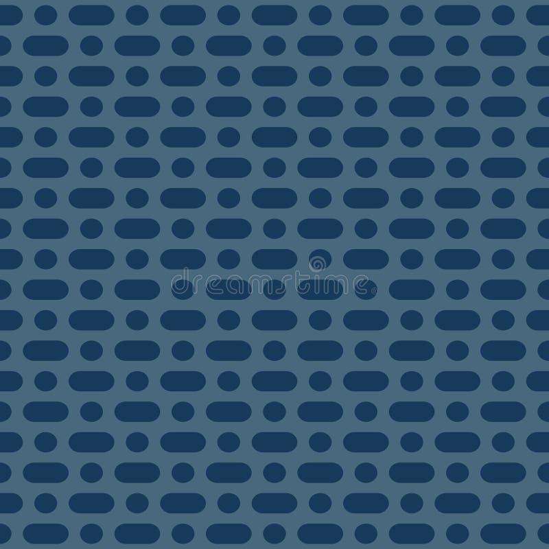 Modelo inconsútil minimalista del vector Los azules marinos simples puntearon el fondo geométrico libre illustration