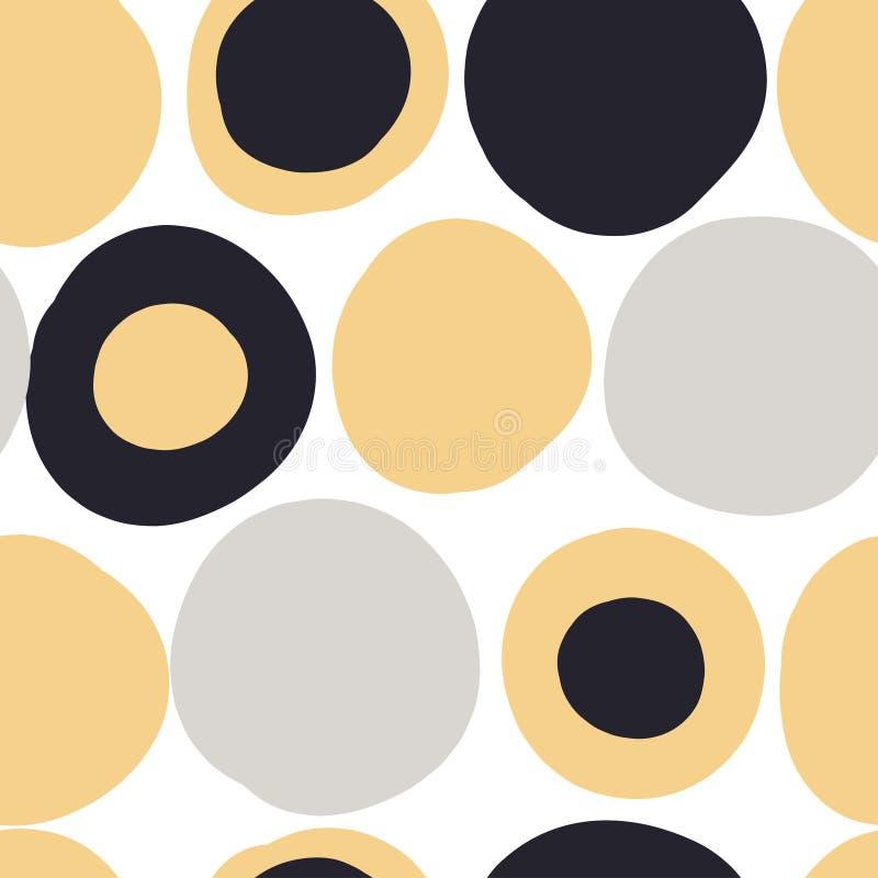 Modelo inconsútil moderno con formas coloridas abstractas stock de ilustración