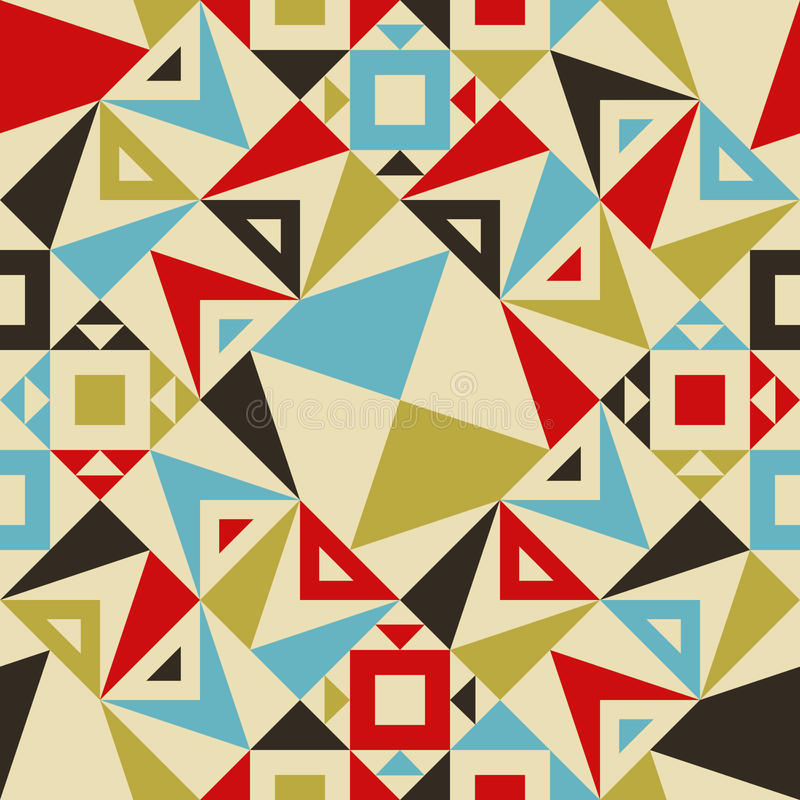 Modelo inconsútil moderno del triángulo para el diseño de la materia textil ilustración del vector