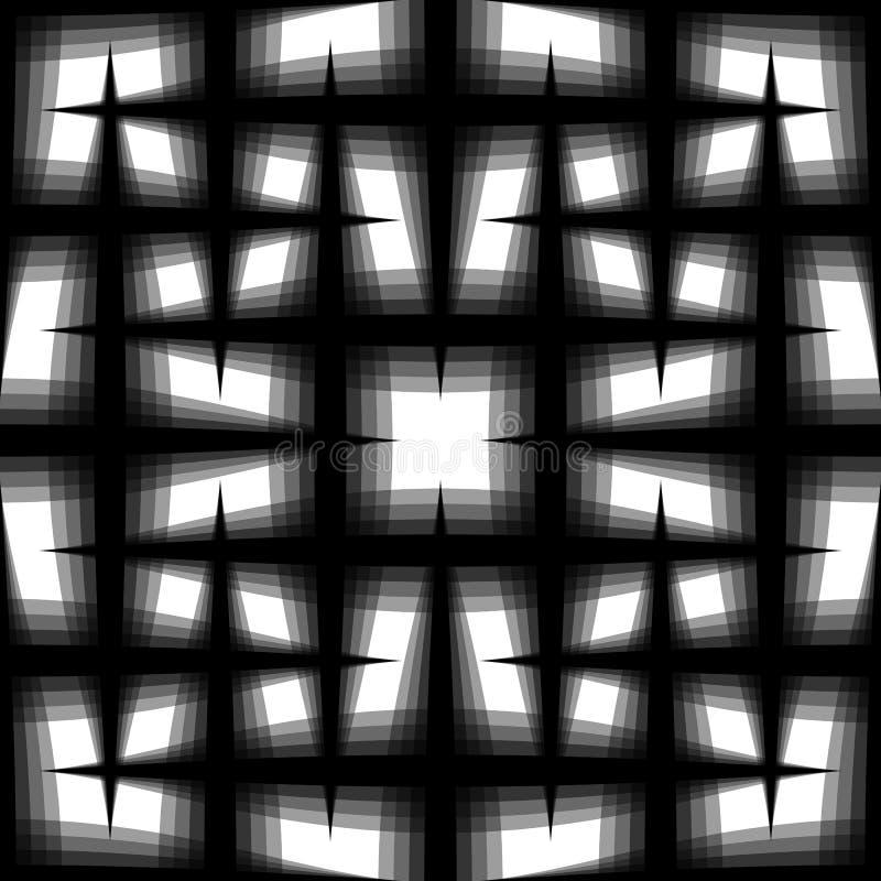 Modelo inconsútil monocromático de líneas de descoloramiento entrelazadas Rejilla, yo libre illustration
