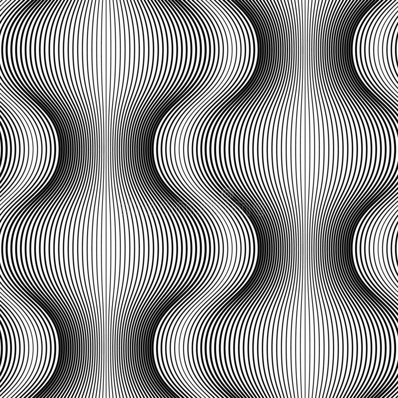 Modelo inconsútil monocromático de las líneas fondo abstracto libre illustration
