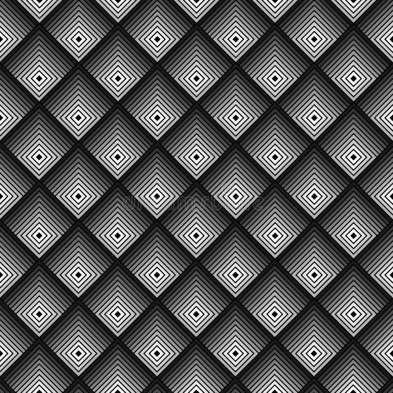 Modelo inconsútil monocromático geométrico libre illustration
