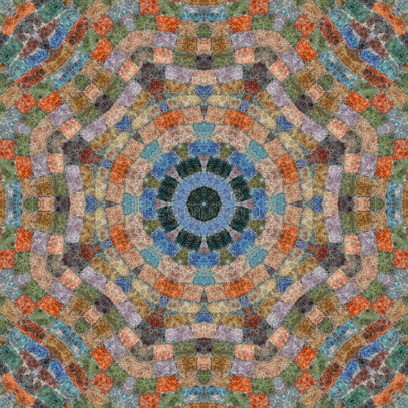 Modelo inconsútil, mosaico de la tela stock de ilustración