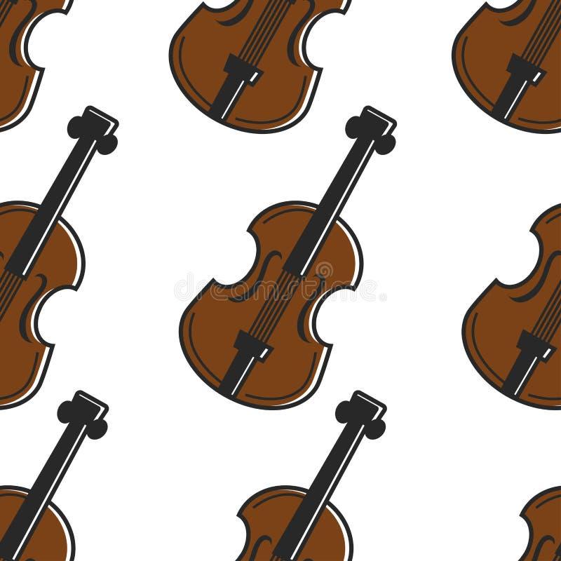 Modelo inconsútil nacional austríaco del instrumento musical del violín stock de ilustración