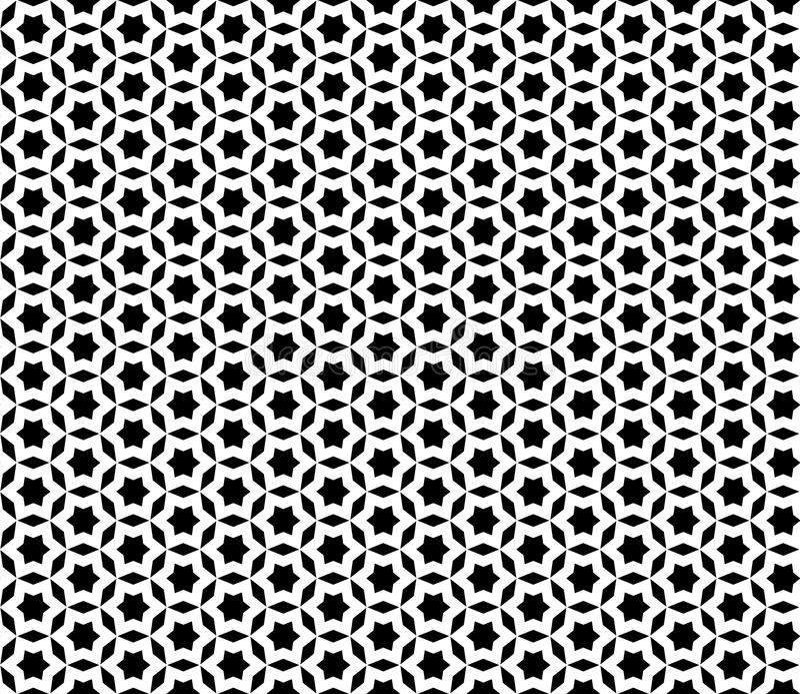 Modelo inconsútil negro y blanco, textura de mosaico stock de ilustración