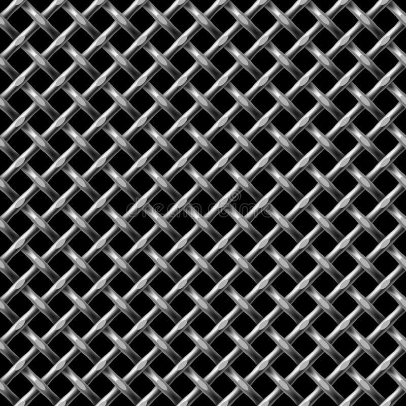 Modelo inconsútil neto de Metall. ilustración del vector
