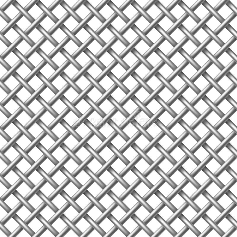 Modelo inconsútil neto del metal. ilustración del vector