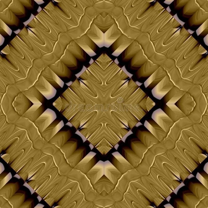 Modelo inconsútil ondulado simétrico abstracto libre illustration