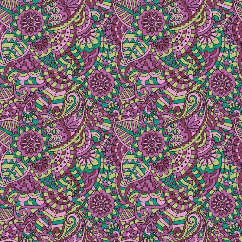 Modelo inconsútil ornamental floral stock de ilustración