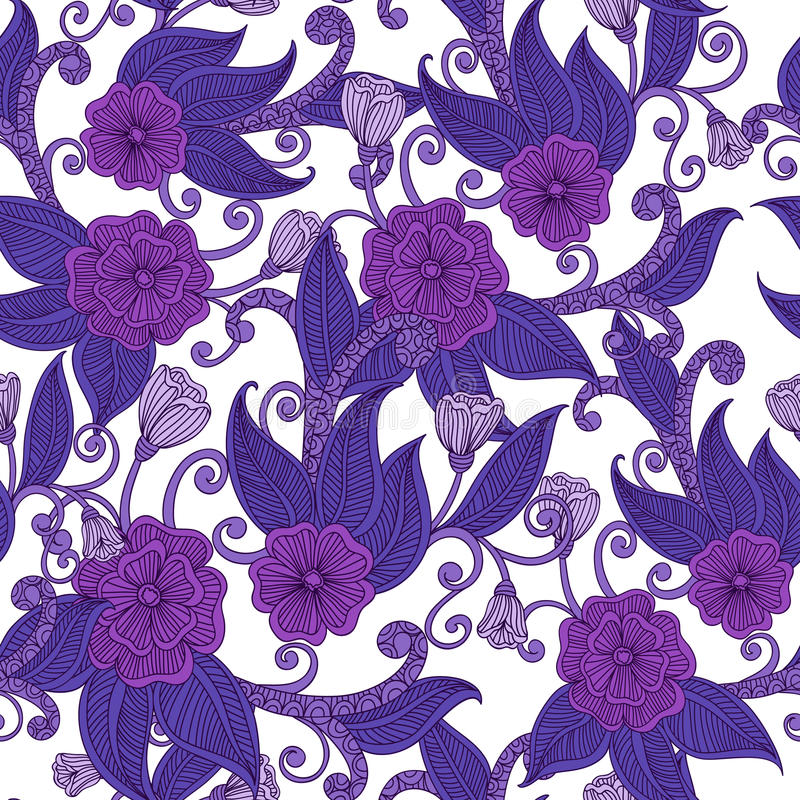 Modelo inconsútil ornamental floral. stock de ilustración