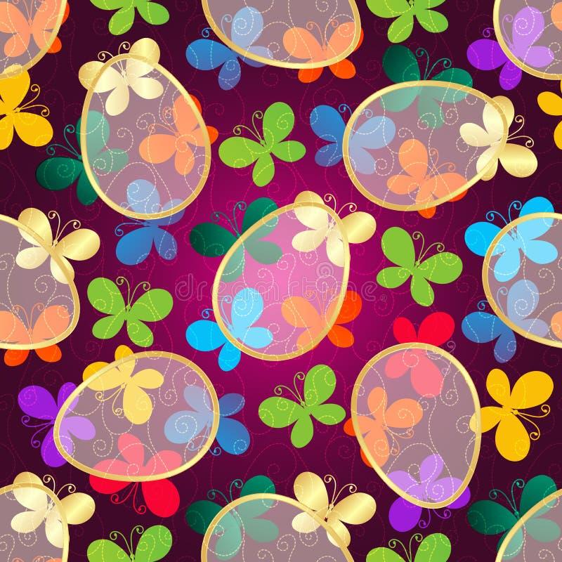 Modelo inconsútil púrpura oscuro de Pascua stock de ilustración