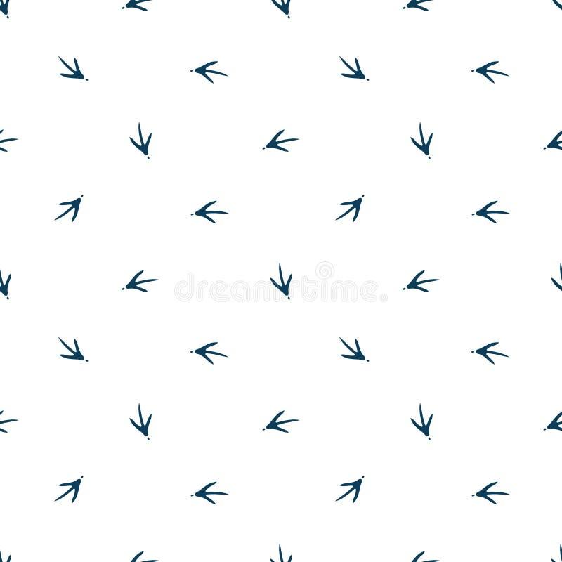 Modelo inconsútil para la tela, papel pintado, bandera de la huella del pollo Sello del gallo libre illustration