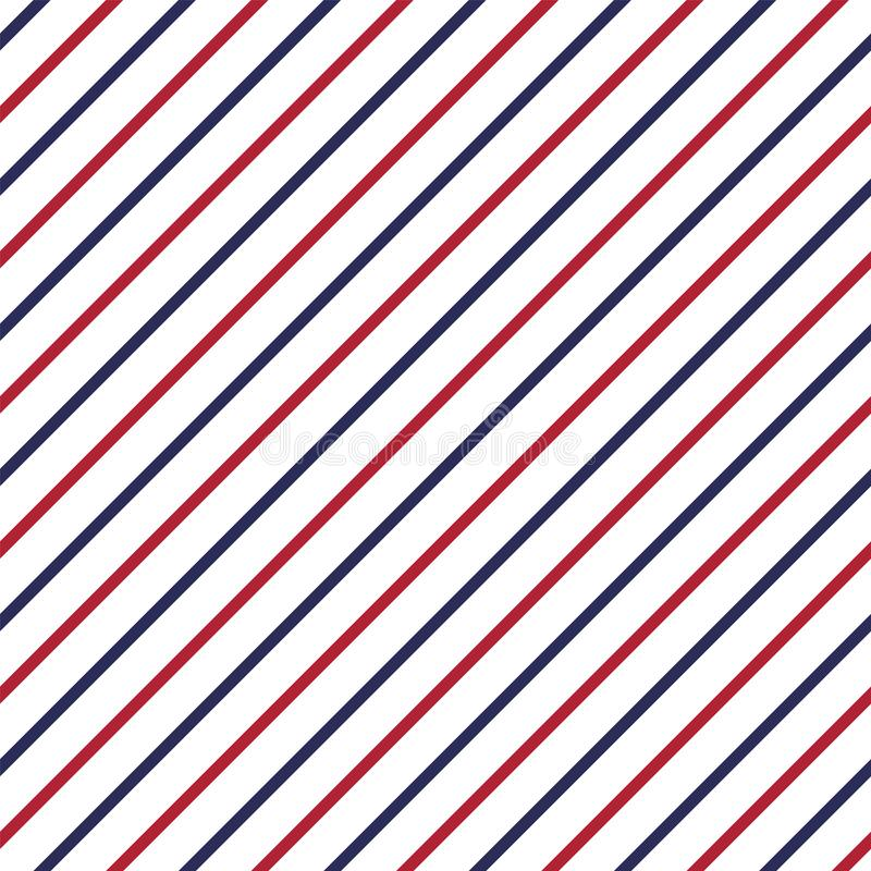 Modelo inconsútil patriótico americano con las rayas en colores rojos, azules y blancos tradicionales libre illustration
