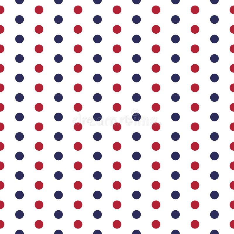 Modelo inconsútil patriótico americano con los puntos en colores rojos, azules y blancos tradicionales libre illustration