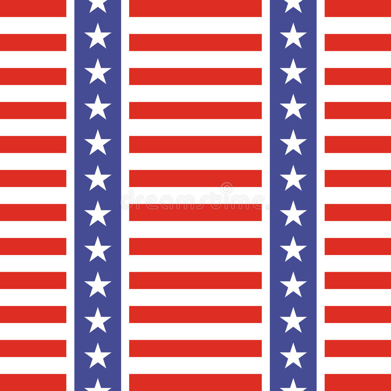 Modelo inconsútil patriótico de los E.E.U.U. stock de ilustración