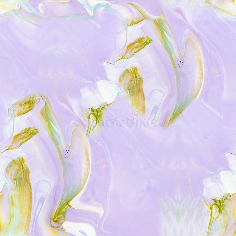 Modelo inconsútil pintado a mano rosado abstracto libre illustration