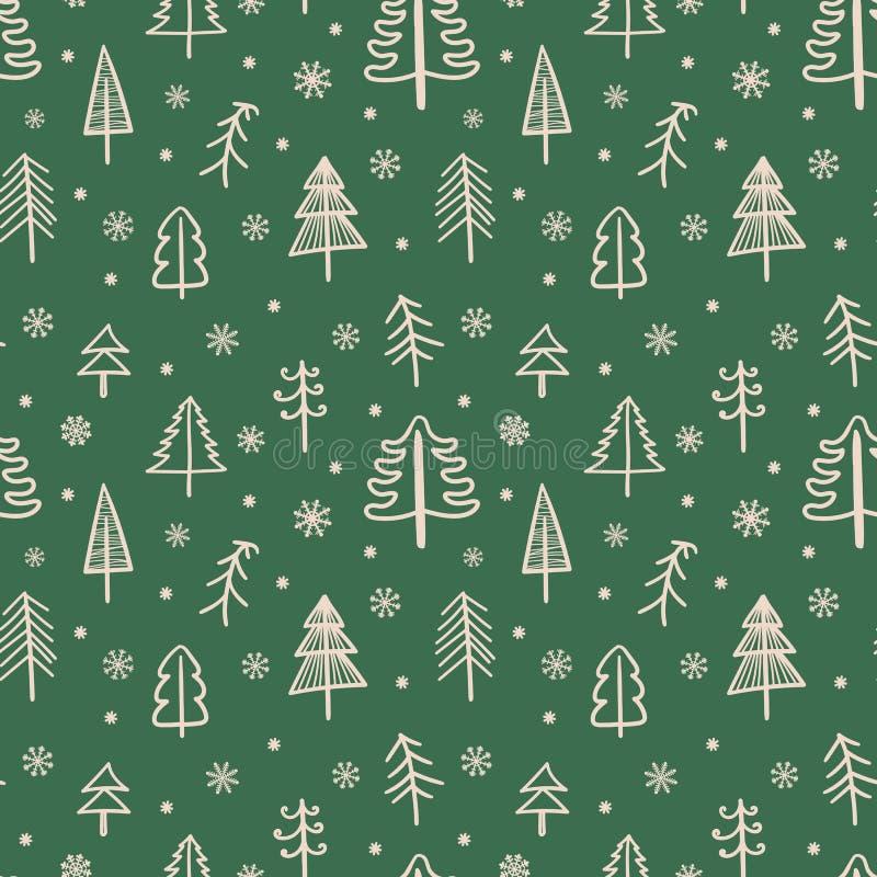 Modelo inconsútil por la Navidad y el Año Nuevo  ilustración del vector
